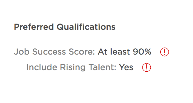 solved what if i dont meet the preferred qualificat upwork community