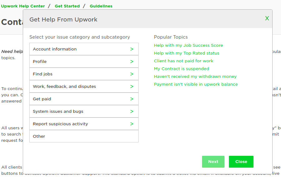 Upwork Help Center Page Not Functioning Prope Upwork Community