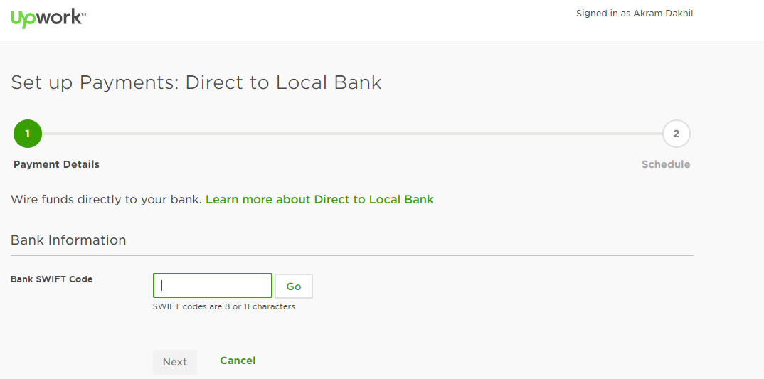 Solved: Bank Swift Code - Upwork Community