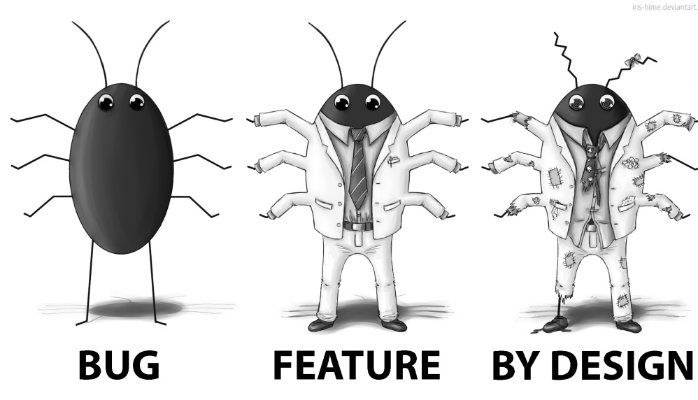 it's not a bug, promise! It's a feature.