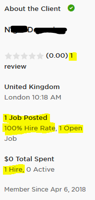 Client's info shows a refunded job