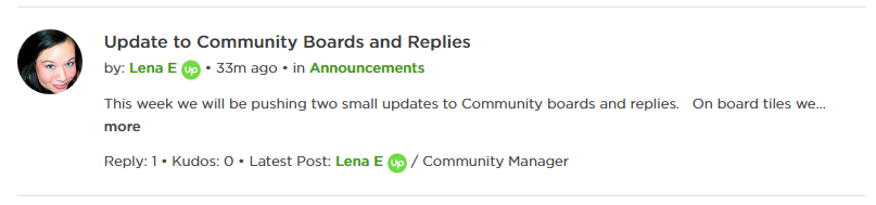 "Lena E shouldn't be the ""Latest Post"""