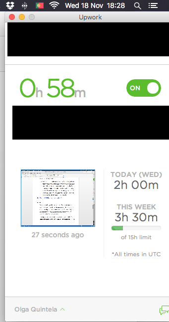 Last screenshot taken at 18.28 shows 1 hour logged vs 58 minutes worked.png