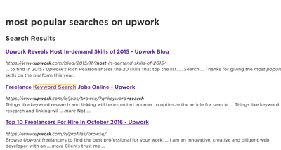 """For Upwork - """"Keyword Search"""" showed up in my Upwork Recent Searches.png"""