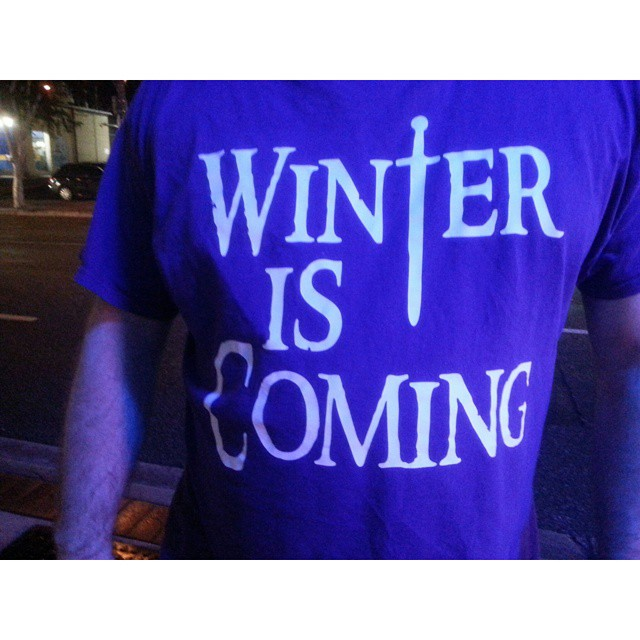 Game of Thrones t-shirt selfie