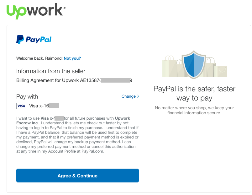 How Can I Pay Via Paypal Account Not Via Car Upwork Community