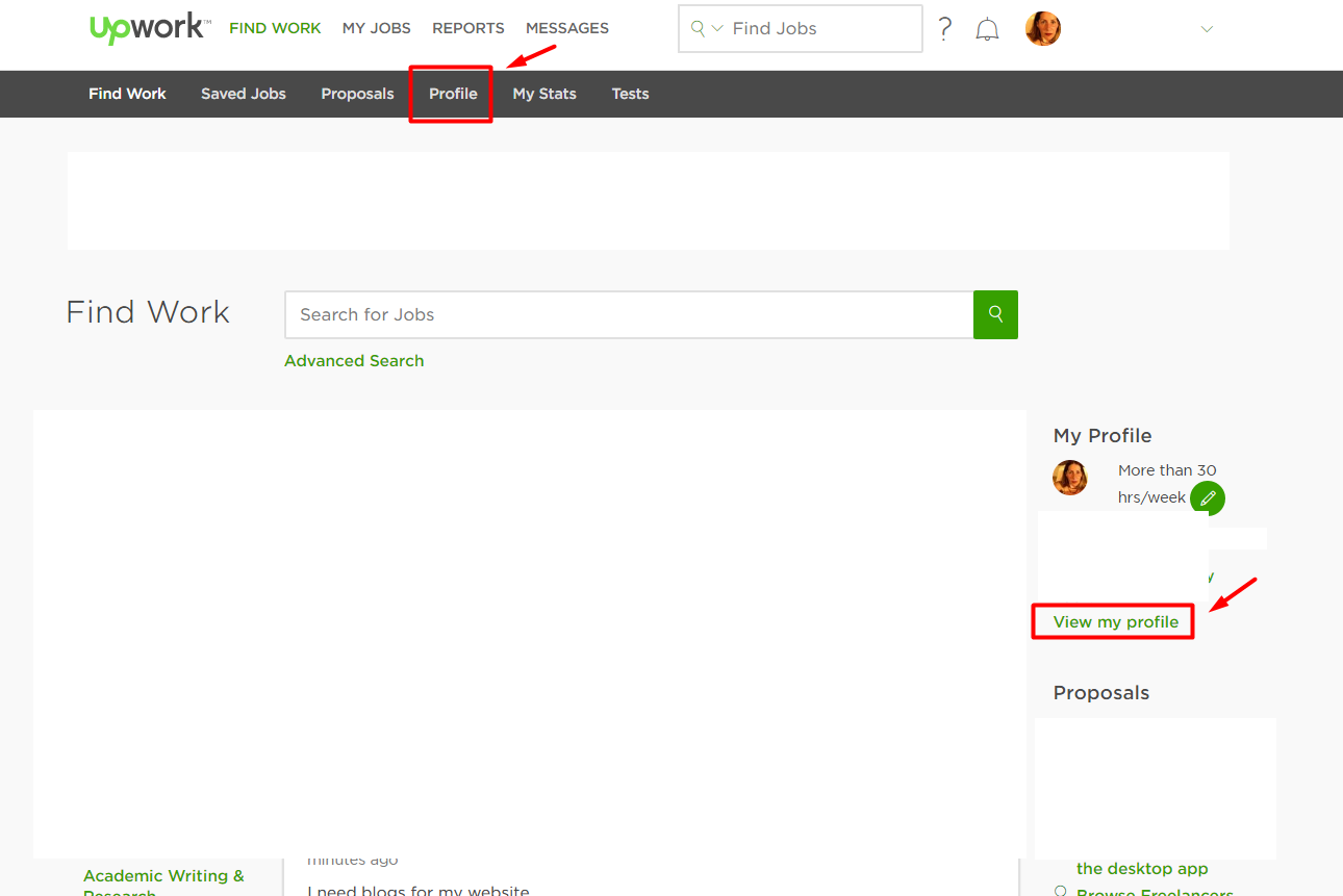 can t edit profile upwork community page png